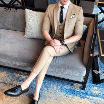 Suit Business gentleman Silent writing khaki M (9-piece suit + pants) routine C209-KK7006 Polyester 65% viscose 32% polyurethane elastic 3% Spring of 2018 Pure e-commerce (online only) Corduroy