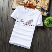T-shirt Youth fashion DT38 white routine XXL Korepall / Han Pei DT51-1 Polyester 95% polyurethane elastic fiber (spandex) 5% Summer of 2018 Pure e-commerce (online only)