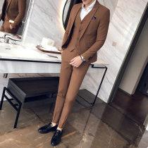 Suit Fashion City Meiyuan claret Two piece suit: (suit + trousers) M routine TZ23186 Viscose fiber (viscose fiber) 57% polyester fiber 31% polyamide fiber (nylon) 8% polyurethane elastic fiber (spandex) 4% Fall 2017 Pure e-commerce (online only)