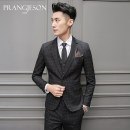Suit Business gentleman prang jeson Black three piece suit (suit + Vest + trousers, free shirt) 46(S) routine PJW7023 Polyester fiber 69.7% viscose fiber (viscose fiber) 29.5% polyurethane elastic fiber (spandex) 0.8% Spring of 2018 Pure e-commerce (online only)