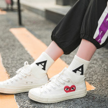 Socks / base socks / silk socks / leg socks female Other / other Average size Letter a letter M letter K letter S 1 pair routine Middle cylinder autumn motion letter cotton hygroscopic and sweat releasing Terry Hy18 Terry letter a single double