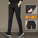 Casual pants Dusuo Fashion City 8886 black + 8886 black Twenty-eight thin get shot DS casual pants Polyester 95% polyurethane elastic fiber (spandex) 5% Fine canvas Summer of 2018