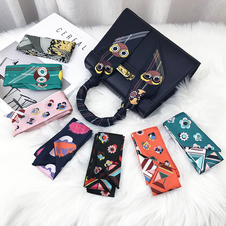 Scarf / silk scarf / Shawl Imitation silk Spring and autumn, summer and winter female Scarves / scarves multi-function Korean version rectangle Students, parents and children, young people printing 5cm 96cm More than 96% Other / other