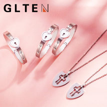 Bracelet Titanium steel 201-300 yuan GLTEN Eternal love, heart of conservation brand new goods in stock Japan and South Korea lovers Fresh out of the oven other Lock / key GXL116 Autumn of 2018 no Pure e-commerce (online only)