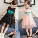 Dress Pink Black Other / other female 7 9 11 13 15 Other 100% summer Korean version Skirt / vest Solid color cotton A-line skirt QZD553