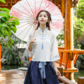 National costume / stage costume Summer of 2018 Blue skirt, blue skirt. SMLXL Hanfunu hf1872 18-25 years old Polyester 100% Pure electricity supplier (only online sales)
