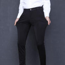 Casual pants fashion City 663 black and nine minute pants Old age Twenty-eight conventional In the bullet MS002 Polyester 96.1% Polyurethane Elastic Fiber (Spandex) 3.9% Spring 2018 Pure electricity supplier (only online sales)