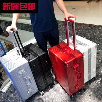 """suitcase H China one thousand and eighty For men and women Luxurious silver, mysterious black rose, golden earth and gold 20 """"22"""" 24 """"26"""" Self driving tour Fashion trend yes ABS+PC Universal wheel built-in Summer of 2018 other"""