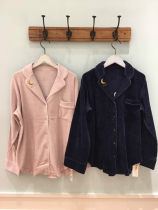 Pajamas / housewear set female Other / other Average size Navy Blue Long Sleeve trousers suit Pink Long Sleeve trousers suit Navy Blue Nightgown pink Nightgown Navy Blue Long Sleeve trousers shorts three piece Set Pink Long Sleeve trousers shorts three piece set Polyester (polyester) luxurious