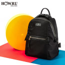 Backpack Nylon  How.r.u/uha.uha Blue. Black brand new in zipper leisure time Double root Japan and South Korea soft youth no Soft handle Solid color no