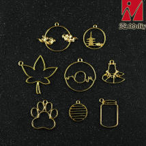 Other DIY accessories Other accessories other 0.01-0.99 yuan Cloud ring tower ring maple leaf lotus leaf ripple a frog claw balloon bottle nidediy