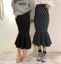 skirt Summer of 2018 Average size Dot BLACK Middle-skirt High waist Dot 18-24 years old 71% (inclusive) - 80% (inclusive) Other / other
