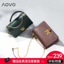 Bag Inclined shoulder bag cowhide Small square bag Aovo / aovo brand new European and American fashion Small leisure time soft Cover type no Yes youth