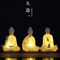 Ornaments ceramics character Retro nostalgia Led - Buddha statue of Tathagata led - Buddha statue of dizang led - Buddha statue of Guanyin Tabletop ornaments a living room See description JZ-ZJHLEDSS0025 Handmade