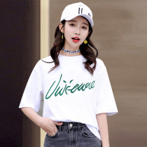 T-shirt XXL S M L XL Summer of 2018 Short sleeve Crew neck easy Regular routine commute cotton 31% (inclusive) - 50% (inclusive) 18-24 years old Korean version originality Cartoon animation animal pattern plant flower geometric pattern alphanumeric 4060 spell AA Printed embroidery