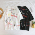 T-shirt Youth fashion White black routine XXXL XXXXL m 95-110 kg L 115-125 kg XL 130-140 kg 2XL 145-160 kg 3XL 165-180 kg 4XL 185-205 kg 5XL 210-235 kg ml XL 2XL Others Short sleeve Crew neck easy Other leisure summer Large size raglan sleeve tide 2018 Alphanumeric printing Creative interest