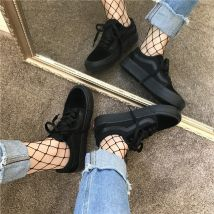 canvas shoe Other / other Low Gang All black Fall 2017 Frenulum street rubber Solid color Youth (18-40 years old) Thin band combination 00701 zero point seven two