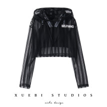 Sweater / sweater Summer of 2018 White black Average size Long sleeves Socket have cash less than that is registered in the accounts singleton  Thin money Hood Self cultivation street routine letter 18-24 years old 81% (inclusive) - 90% (inclusive) WYY7-59 other Hollow out printing Drawstring Hip hop