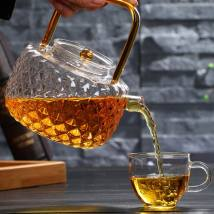 teapot Heat resistant glass other Heat resistant glass no Self made pictures 701ml (including) - 800ml (including) Glass kettle