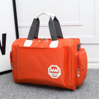 Travel bag oxford nothing Mi Qi Orange black blue red purple Xiaoda yes travel Single root Japan and South Korea Bag type polyester fiber Soft handle Solid color youth Color contrast TT707A female Trumpet - L 40 * W 20 * h 28cm