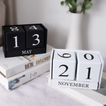 Ornaments wood other Simple and modern Black and white Tabletop ornaments Candies on Friday C1404 Semi manual