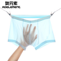 underpants male L XL XXL XXXL Austrian element 3 Iced silk boxer middle-waisted Simplicity Solid color youth 61% (inclusive) - 80% (inclusive) other No trace One piece 036T