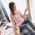 Wool knitwear Average code Fall of 2018 Orange Beige card pink BEIGE BLACK PINK YELLOW royal blue Long sleeve Cardigan Conventional models Single Loose