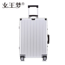 "suitcase Metal (aluminum magnesium alloy, etc.) For men and women Queen's dream Rose Gold Titanium Gold Red Silver Blue Black 20 ""24"" 26 ""29"" Yes yes brand new Solid color Buckle Retro youth polyester fiber Zipper hidden bag sandwich zipper bag JF7 Universal wheel TSA code lock"