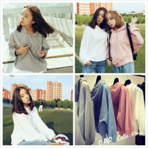 Sweater / sweater Autumn of 2018 White gray blue XXL S M L XL 3XL Long sleeves Socket routine singleton  Thin money Hood Bat type commute Bat sleeve Solid color 18-24 years old 31% (inclusive) - 50% (inclusive) Korean version Y10 nylon Drawstring with multiple pockets cotton