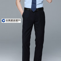 Western-style trousers Others Business gentleman CCB double blue men's trousers 29 30 31 32 33 34 35 36 CCB men's pants trousers Straight cylinder autumn go to work Business Casual stripe 2018