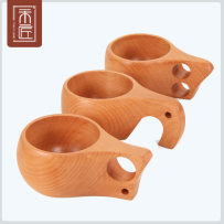 coffee cup porcelain 1 European style Beech double hole cup beech elephant trunk cup beech single hole cup One wood, one craftsman one thousand and twelve Solid color