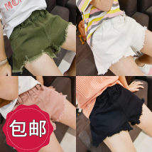 trousers Chuni female Dark pink white black army green spring and autumn shorts Korean version There are models in the real shooting Casual pants CK350