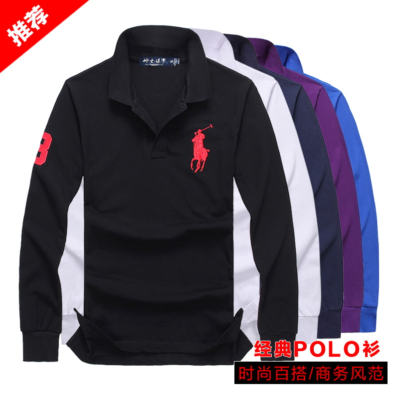 Polo shirt Marshal Paul Fashion City routine S [100-130 kg] m [130-145 kg] l [145-160 kg] XL [160-180 kg] XXL [180-200 kg] attention. European products are bigger easy business affairs autumn Long sleeves 088 Business Casual routine youth Cotton 90% other 10% 2018 Animal design cotton Embroidery