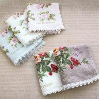 Handkerchief / handkerchief Rice white lace embroidery milk white lace embroidery light brown lace embroidery light blue lace embroidery light pink lace embroidery dotted ribbon embroidery 25x25cm 25g teenagers