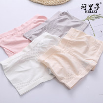underpants female Flesh pink white gray black Average size Helizi 1 cotton boxer middle-waisted Simplicity Solid color youth 61% (inclusive) - 80% (inclusive) Recycled fiber fabric Safety trousers One piece HLZ-8022
