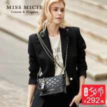 Bag Inclined shoulder bag Sheepskin diamond pattern chain bag Micie / Meixi Eternal black ivory white Cornus powder brand new European and American fashion Small leisure time soft zipper no Solid color Single root Straddle shoulder nothing youth Horizontal square Rhombic grid polyester fiber MA116786