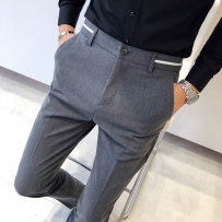 Western-style trousers Others Fashion City Black grey 28 29 30 31 32 33 34 A206-1/819/P85 trousers Slim fit autumn leisure time youth tide 2018 cotton