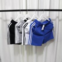 Casual pants fashion City White grey black blue Other /other ML XL 2XL conventional In the bullet Other leisure Self-cultivation Shorts (wearing up to the knee) two thousand and eighteen tide summer youth Middle waist Straight Non-iron treatment Rule/stick Sweatpants Pure color cotton Fashion Tide