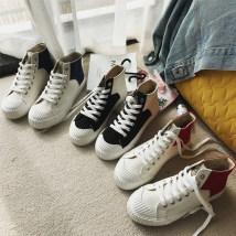 High shoes Круглый Средняя пятка (3-5 см) FCS Зима 2017 ткань ткань Нижнее дно Красный предпродажный 5 марта доставка белый красный синий 35 36 37 38 39 40 Молодежь (18-40 лет) кружевной Корейская версия Вулканизованная обувь резина Чистый цвет ткань Крест-ремни Кексы с водонепроницаемой платформой