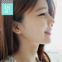 Ear Studs Silver ornaments 201-300 yuan Connectin 1 pair of earrings (jewelry box + alcohol cotton + silver cloth + 1 pair of silver plug + 2 pairs of rubber plug + thickened storage bag) brand new Japan and South Korea female goods in stock Fresh out of the oven Plants and flowers MQ061S 925 Silver