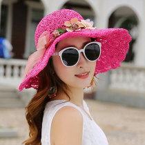 Hat Straw weaving Average size Straw hat Spring summer autumn female grace Middle aged young couple dome Big eaves other sandy beach other Aleck no