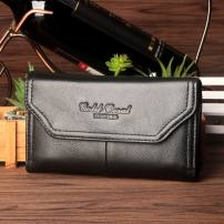 Men's bag Pocket cowhide Gold Coral Black Brown brand new leisure time European and American fashion Magnetic buckle soft Small no mobile phone bag Solid color nothing Strapless middle age Horizontal square polyester fiber Z6020 Autumn 2016 top layer leather Pure e-commerce (online only)