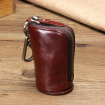 key case cowhide R·cose Ostrich Brown Retro Blue ostrich Black Retro olive green Retro Red olive green blue retro Brown Black brand new zipper Solid color Japan and South Korea youth other Key position Barrel shape six thousand and two male 90% off polyester fiber top layer leather 2015
