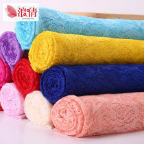 Fabric / fabric / handmade DIY fabric chemical fiber 1 # bleaching 2 # blood tooth 3 # Pink 4 # watermelon red 5 # yellow 6 # Black 7 # Royal Blue 8 # purple 9 # rose red 10 # Sky Blue 11 # big red 12 # beibai 13 # Ben White Loose shear rice Plants and flowers printing and dyeing clothing Lang Qian