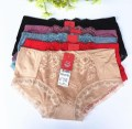 underpants Magnolia Red Bright Acacia Red Black M L Female Zhu Miqi 1 item Polyester cotton Middle waist Briefs youth 2852k