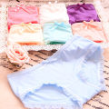 underpants female Cowboy blue white gray black red watermelon red yellow Average size Other / other cotton Briefs middle-waisted Sweet Solid color juvenile More than 95% Cotton fabric Buttock lifting One piece