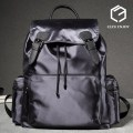 Backpack L' ezu nylon cloth Space black (standard size) space grey (standard size) brand new In European and American fashion Double root zipper travel soft No No youth Soft handle Pure color Water repellent nylon male Yes 16 inches LZEJ18013231 Cover bag 39 cm * 29.5 cm * 14 cm