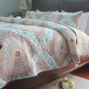 Bed cover Others Weaving silk 224x224cm three piece set 224x234cm three piece set 259x224cm three piece set Geometric pattern Light green Decor