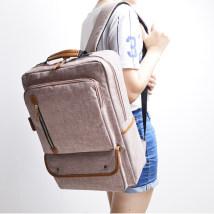 Backpack PU Other / other Royal Blue Brown Pink Black Grey Solid color Belt decoration Splicing