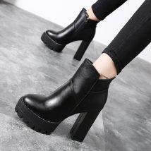 Boots 34 35 36 37 38 39 Heel height 11.5cm black (velvet lining) heel height 11.5cm black (single lining) PU Other / other Super high heel (over 8cm)